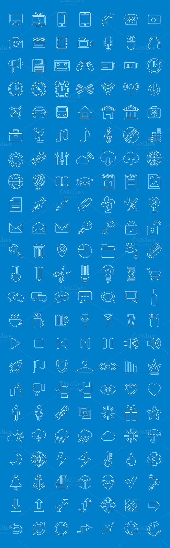 Line Icons And Pictograms Set