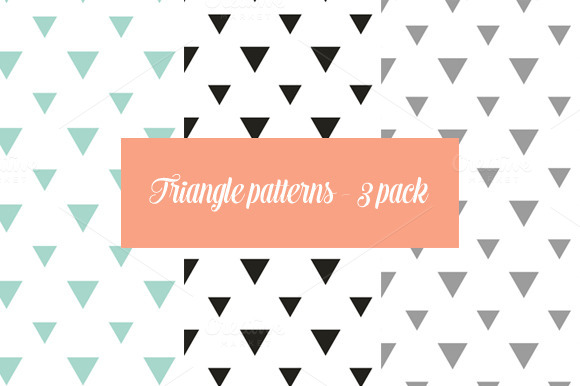 Triangle Seemless Patterns 3 Pack