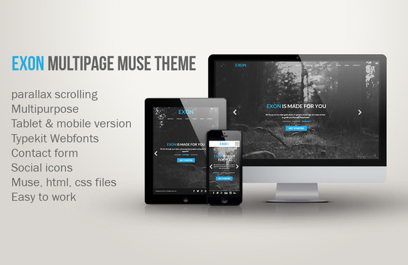 Exon Multipage Muse Theme