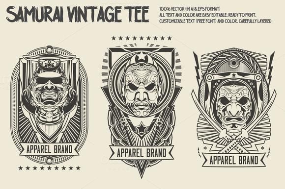 Samurai Vintage Tee