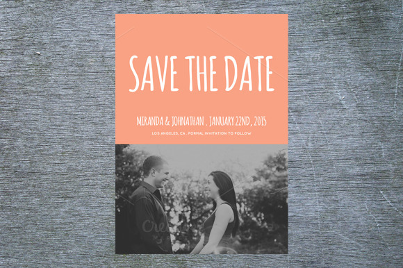Cutesy Photo Save The Date