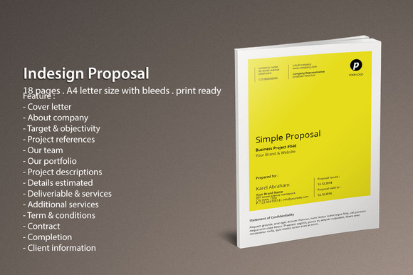 free indesign proposal templates designtube creative