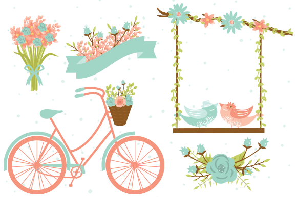 Wedding Clipart Elements EPS PNG