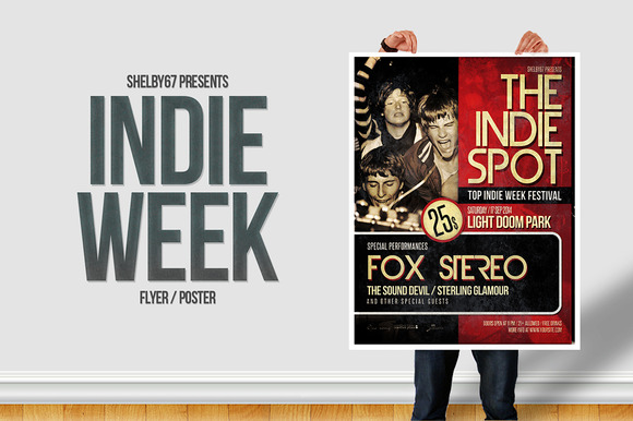 Indie Week Flyer Poster