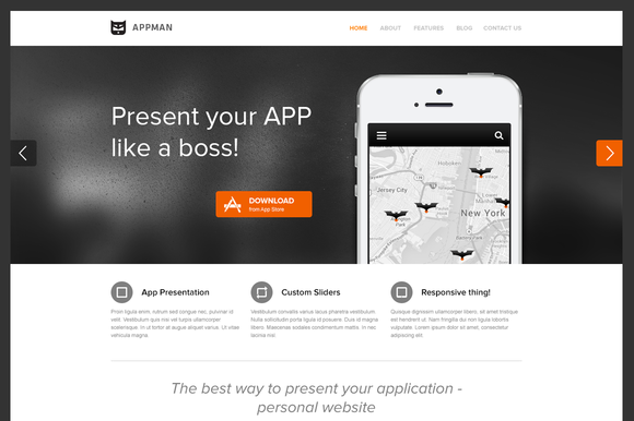 AppMan WordPress Theme For Apps