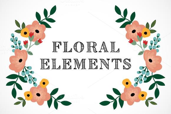 Romantic Floral Elements