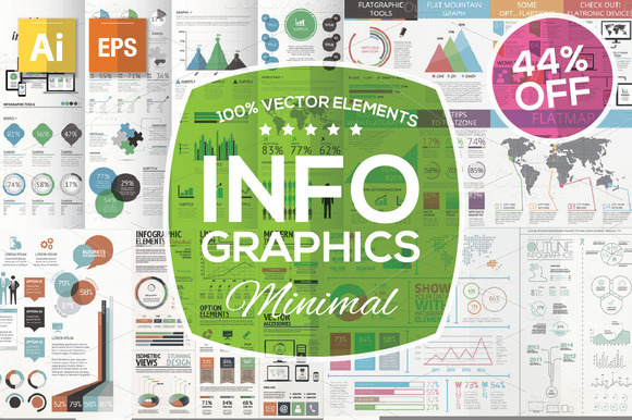 Minimal Infographic Kit 44% OFF