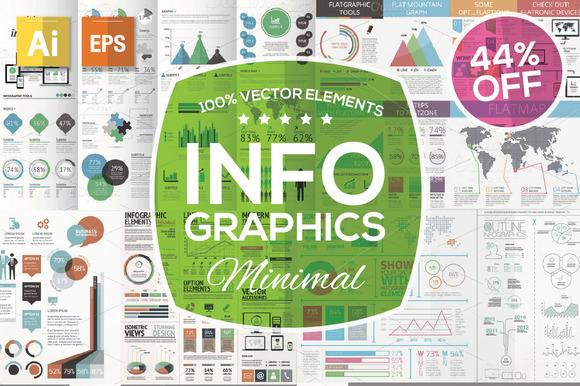 Minimal Infographic Kit 44% OFF