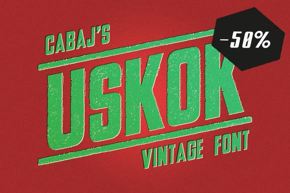 USKOK Vintage Font 50% Off
