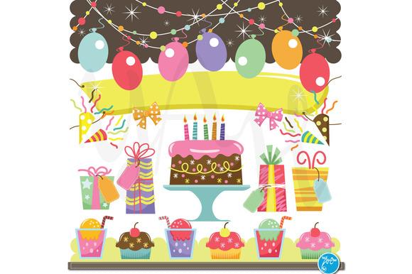 Retro Birthday Celebration Elements