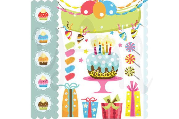 Retro Birthday Celebration Set