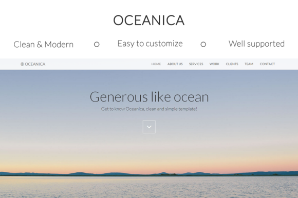 Oceanica Responsive HTML Template