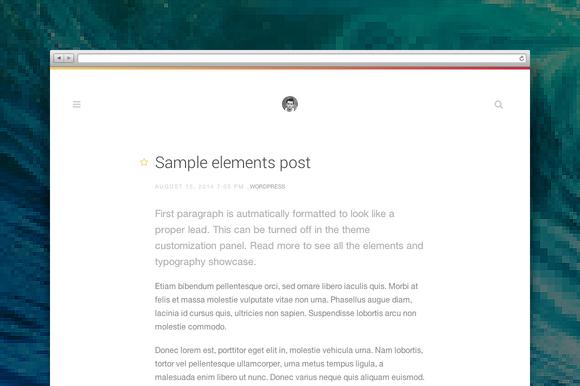 Type Wordpress Theme