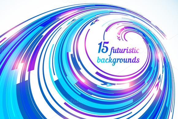15 Vector Futuristic Backgrounds