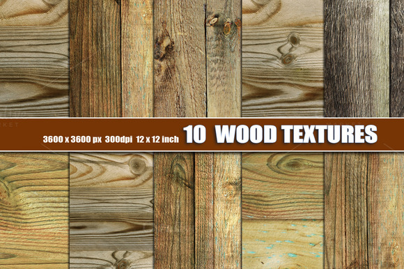 10 WOOD BACKGROUND TEXTURES