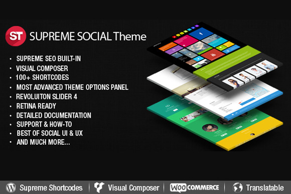 Supreme Social WordPress Theme
