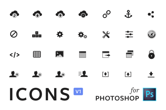ICONS V1 Photoshop