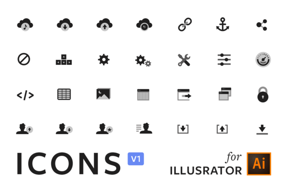 ICONS V1 Illustrator