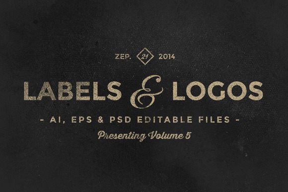Vintage Labels Logos Vol.5