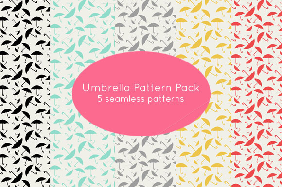 Umbrella Seamless Patterns 5 Pack