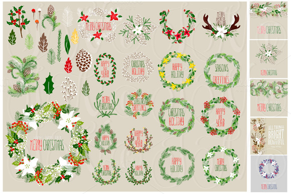 56 Christmas Clip Arts 12 Cards