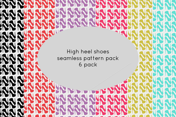 High Heel Shoes Patterns Pack Of 6