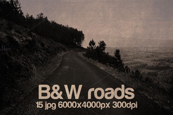 Vintage B W Roads