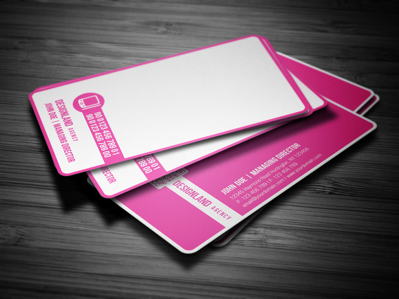 Pink Corporate Business Card