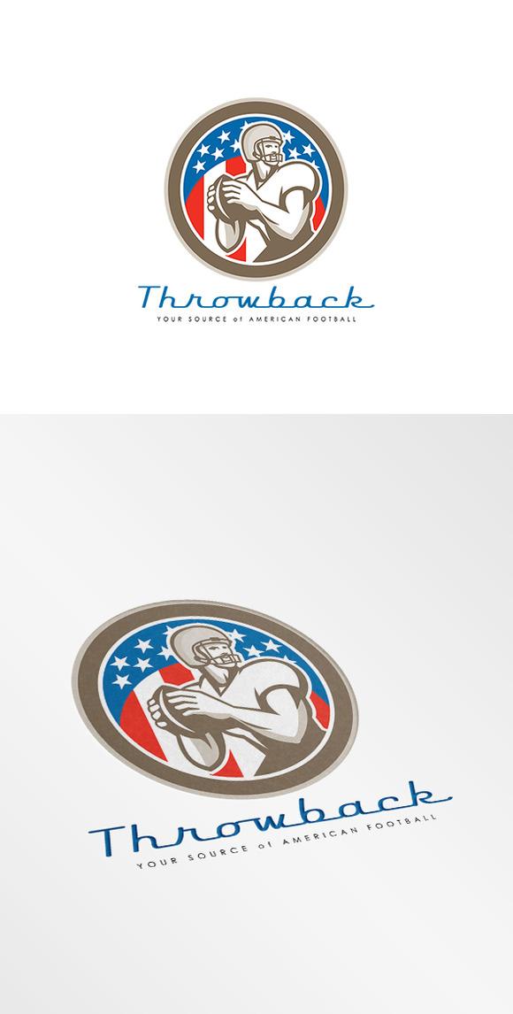 Throwback American Football Logo