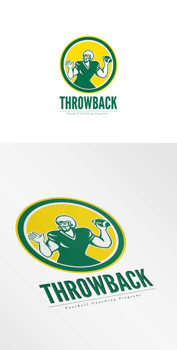 Throwback Football Coaching Logo