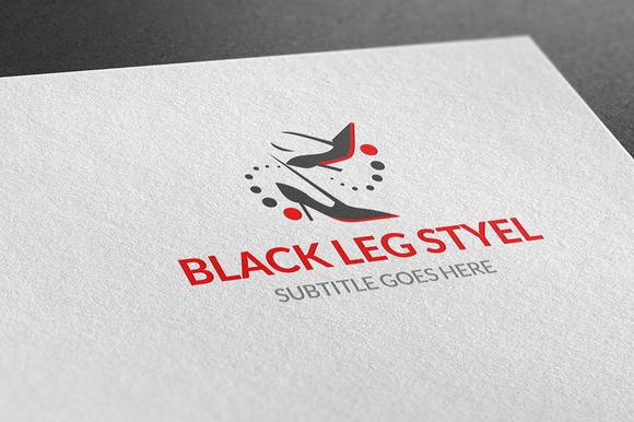 Black Leg Styel Logo