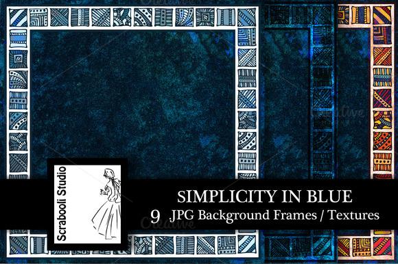 Simplicity In Blue