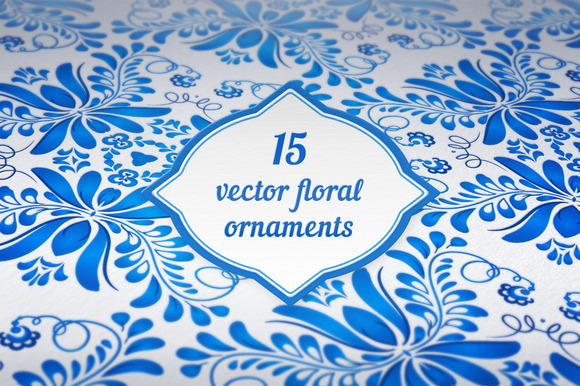 15 Vector Floral Backgrounds