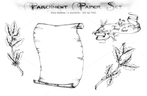 Hand Drawing Parchment Set