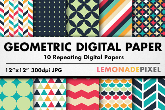 Geometric Patterns Digital Paper