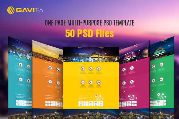 GAVIEN One Page Multi-Purpose PSD