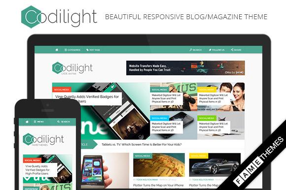 Codilight Beautiful Magazine Theme