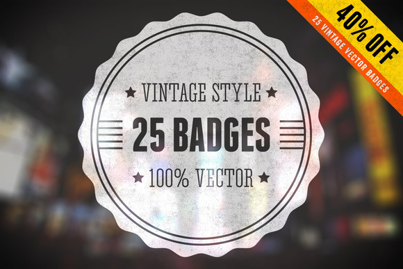 Vintage Vector Badges Bundle Vol 1