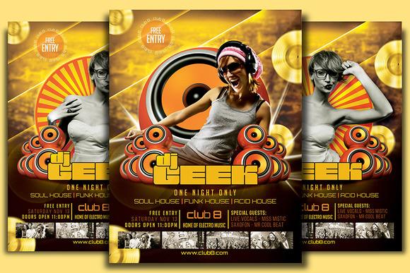 DJ Geek Flyer Template
