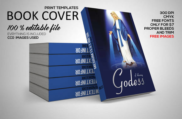 Holy Book Cover Print Template PSD