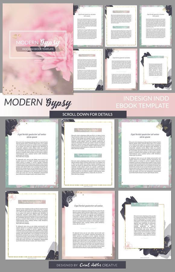 Modern Gypsy InDesign Ebook Template