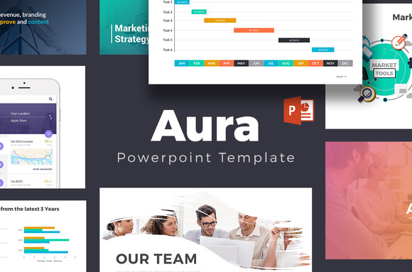 Aura Powerpoint Template