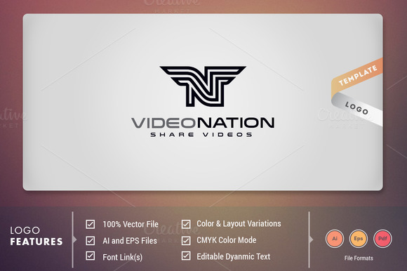 Video Nation Logo Template