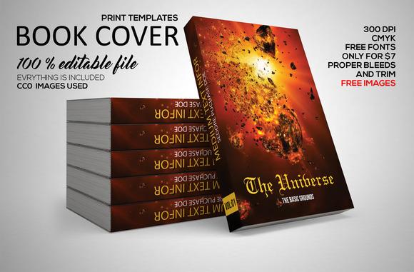 Book Cover Template Gimp : Universe book vector designtube creative design content