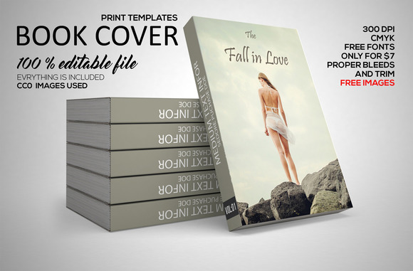 Love Book Cover Print Template