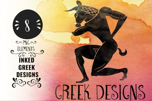 Inked Greek Designs