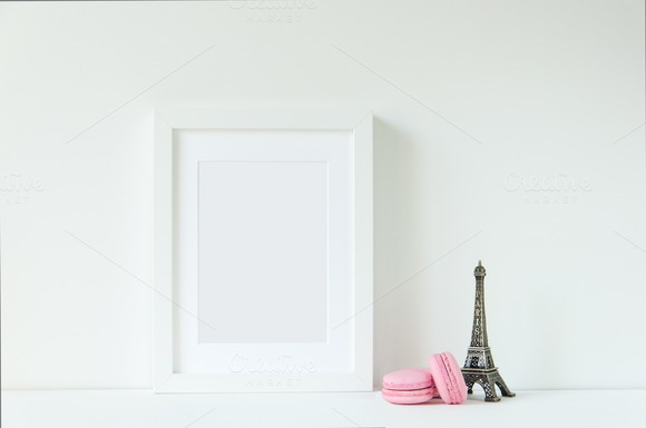 Paris White Frame Mockup