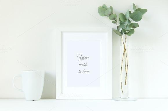 Frame Mockup In White