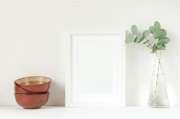 Nature White Frame Mockup