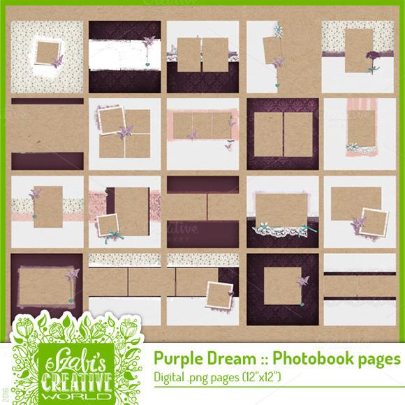 Purple Dreams Photobook Quickpage
